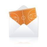 篮球发运域 库存图片