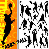 篮球向量 库存照片