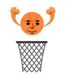 篮球和圆环 比赛辅助部件 在网的命中 情感球 皇族释放例证