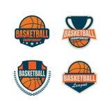 篮球商标模板 图库摄影