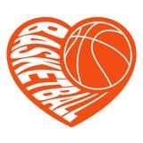 篮球在心脏2 免版税库存照片