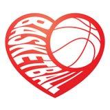 篮球在心脏3 库存图片