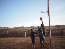 篮球在蒙古 免版税库存图片