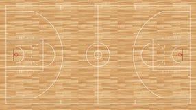 篮球地板-章程nba 免版税库存图片