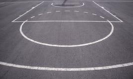 篮球场线 库存图片