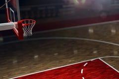 篮球场,如果例证 竞技场雨体育运动体育场 向量例证