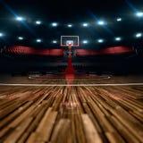 篮球场,如果例证 竞技场雨体育运动体育场 免版税库存照片