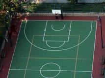 篮球场,如果例证 库存图片