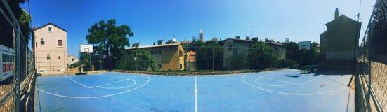 篮球场,如果例证 库存照片