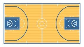 篮球场 向量例证