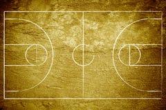 篮球场grunge 免版税库存照片