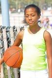 篮球女孩球员 免版税库存照片