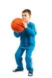 篮球孩子 免版税库存图片