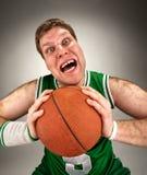 篮球异常的球员 库存图片