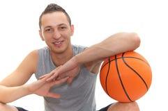 篮球微笑 免版税库存照片