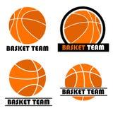 篮球徽标集 库存照片