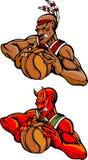 篮球恶魔印地安人吉祥人 库存图片
