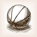 篮球手拉的剪影样式传染媒介 库存照片