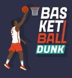 篮球扣篮 免版税库存照片