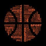 篮球拼贴画 向量例证