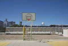 篮球操场的看法 库存图片