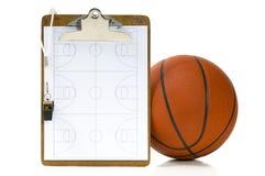 篮球教练项目s 免版税图库摄影