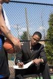 篮球教练 库存照片