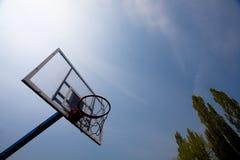 篮球概念箍 库存照片