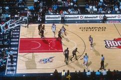 篮球比赛行动 图库摄影