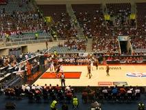 篮球比赛,决赛四,里约热内卢 免版税库存照片