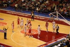 篮球比赛 库存照片