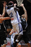 篮球比赛kaposvar佩奇 库存照片