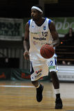 篮球比赛kaposvar paks 免版税库存图片