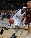 篮球比赛kaposvar salgotarjan 免版税库存照片