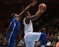 篮球比赛kaposvar sopron 免版税图库摄影