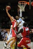 篮球比赛kaposvar szolnok 免版税库存照片