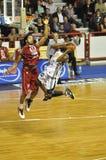 篮球法国赞成射击 免版税库存图片