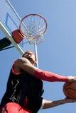 篮球泡的球员 免版税库存照片