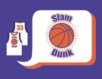 篮球泽西与设计的 免版税库存照片