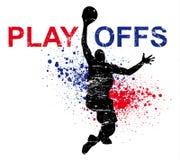 篮球海报 免版税库存图片