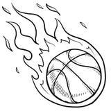 篮球淘汰赛草图 库存例证