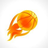 篮球火焰商标 免版税库存照片