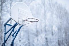 篮球环形冬天 免版税库存照片