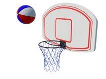 篮球环形 免版税库存照片