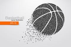 篮球球的剪影从三角的 库存图片