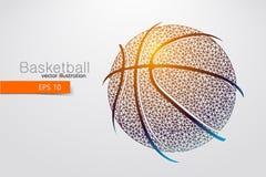 篮球球的剪影从三角的 图库摄影