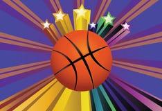 篮球球背景 皇族释放例证