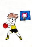 篮球男孩使用 图库摄影
