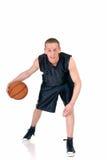 篮球男性球员年轻人 库存照片