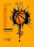 篮球的设计 比赛的海报 库存图片
